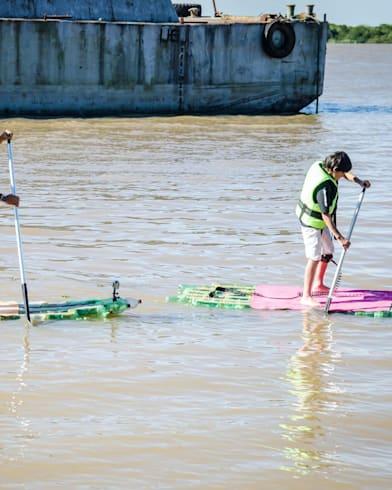 Turning plastic bottles into paddleboards