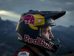 Aaron Gwin at his top spot, Mammoth Mountain