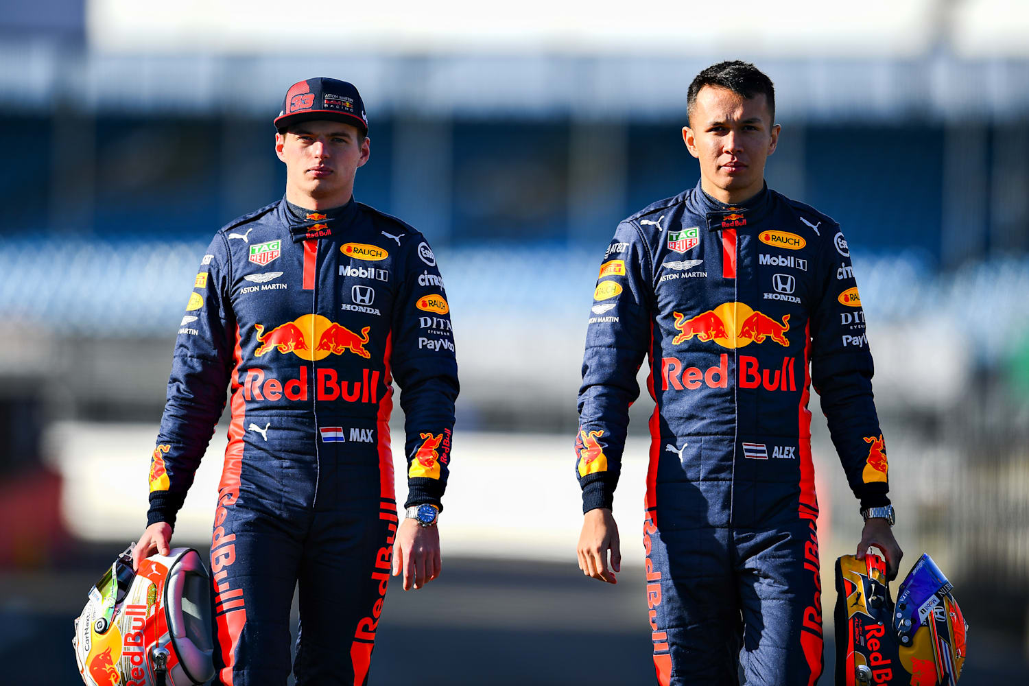 Max Verstappen and Alex Albon, Red Bull content pool