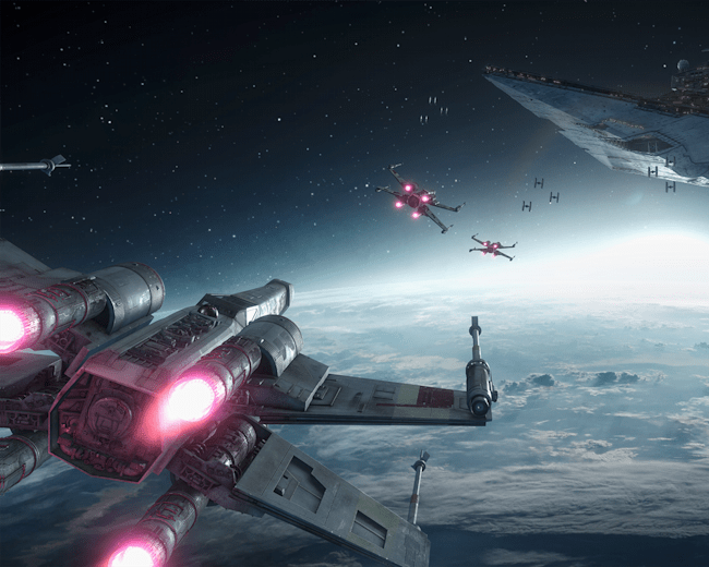 Taking on the Empire in an X-Wing