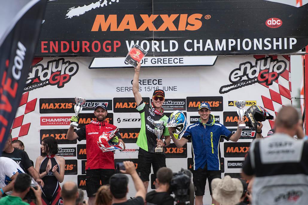 Το τελευταίο ελληνικό βάθρο της EnduroGP στις Σέρρες (2019).