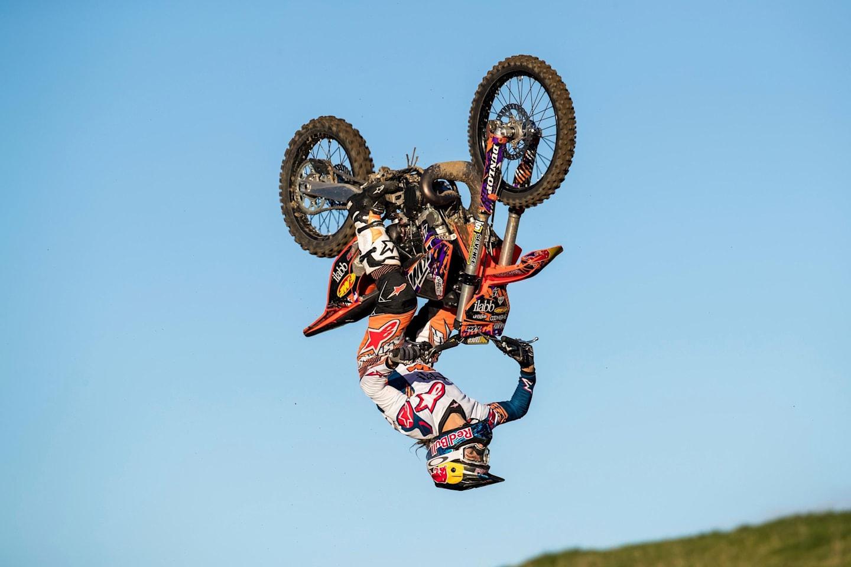 Levi Sherwood mid air