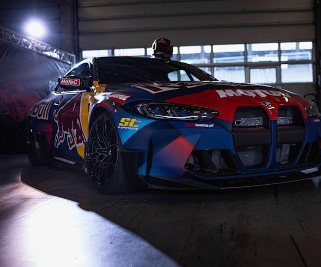 Wettkampfbereit: der BMW M4 der Red Bull Driftbrothers.