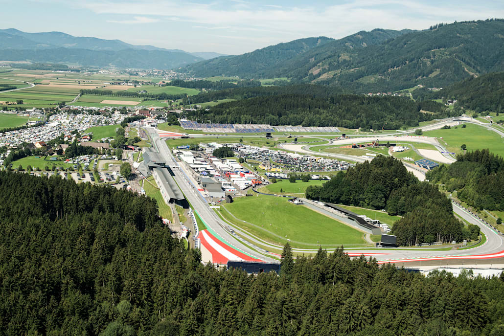 Overview of the Red Bull Ring in Spielberg, Austria on August 10, 2019.