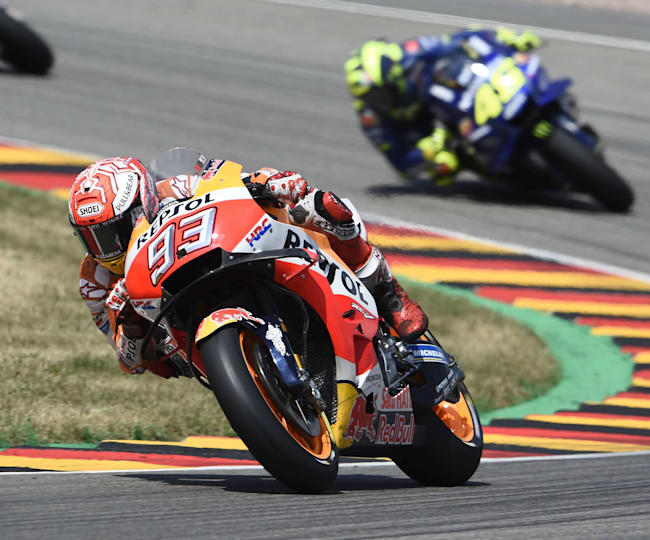 Marc Márquez took his ninth win at the Sachsenring