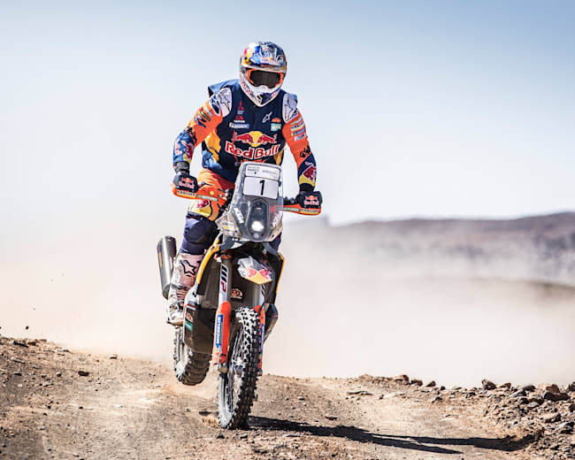 Toby Price in action at Dakar 2020.