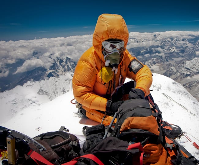 All packed for climbing Everest
