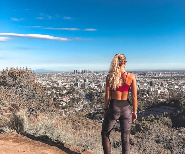 Looking out over LA