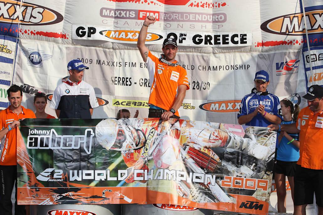 O Johnny Aubert στέφεται πρωταθλητής Ε2 στις Σέρρες το 2009