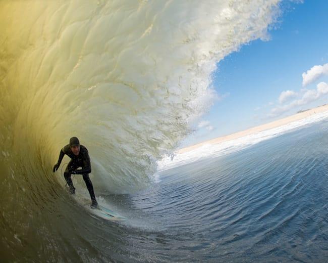 Ethan Dayton hitting the freezing waves