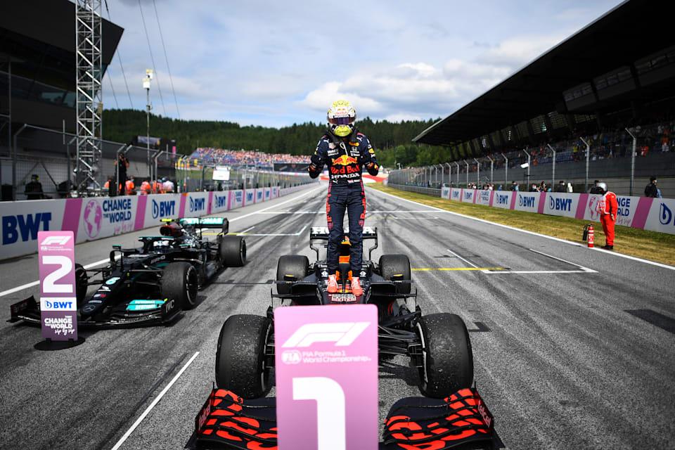 Celebrating His 50th F1 Podium