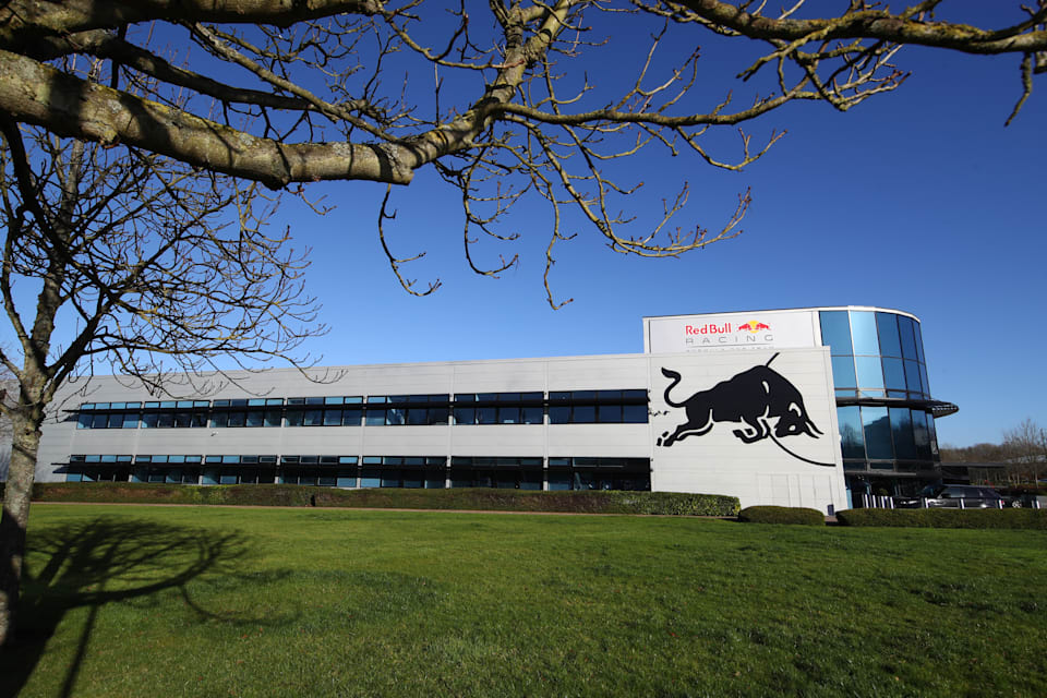 Outside The Red Bull Racing Factory