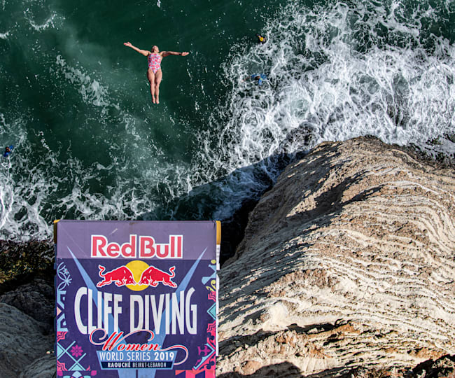Fear and cliff diving go hand-in-hand... obviously