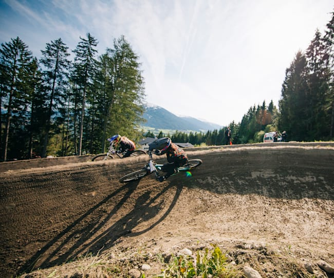 There was plenty of thrills and spills during the dual slalom racing