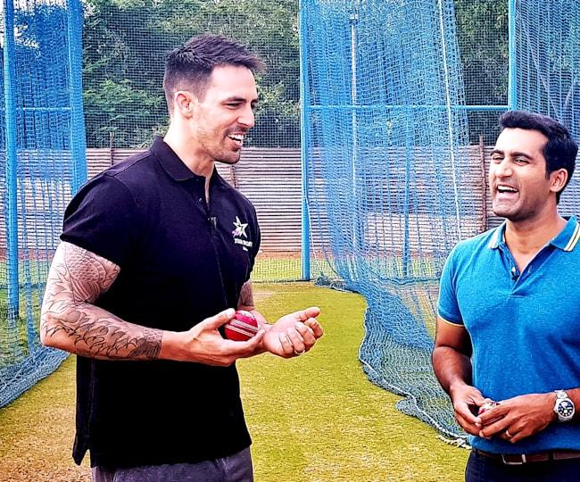 Suhail Chandhok and Mitchell Johnson