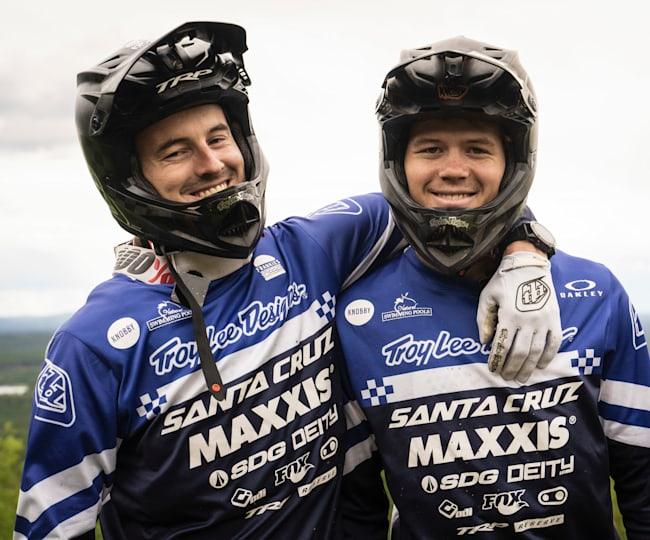 Oliver and Ben Zwar in Hunflen, Vansbro in 2020.