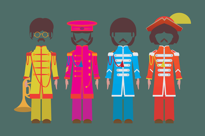 Illustrated Best Band Uniforms Including The Beatles