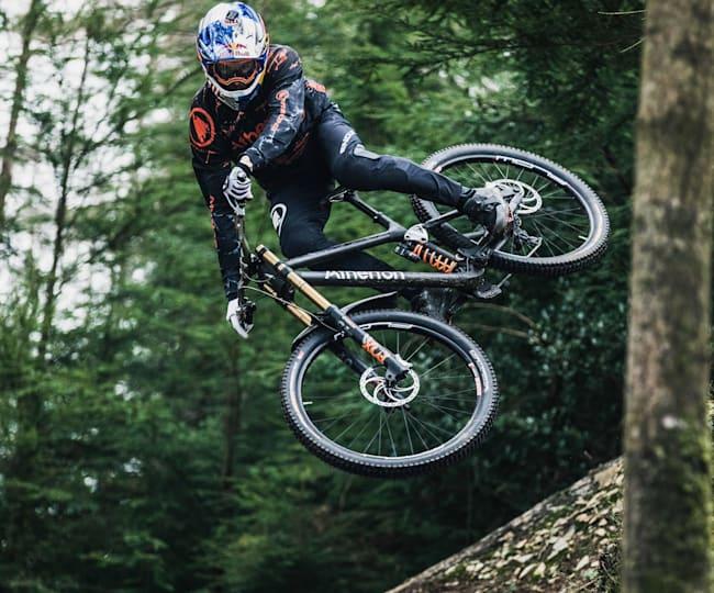Gee Atherton riding the new Atherton Bikes race machine
