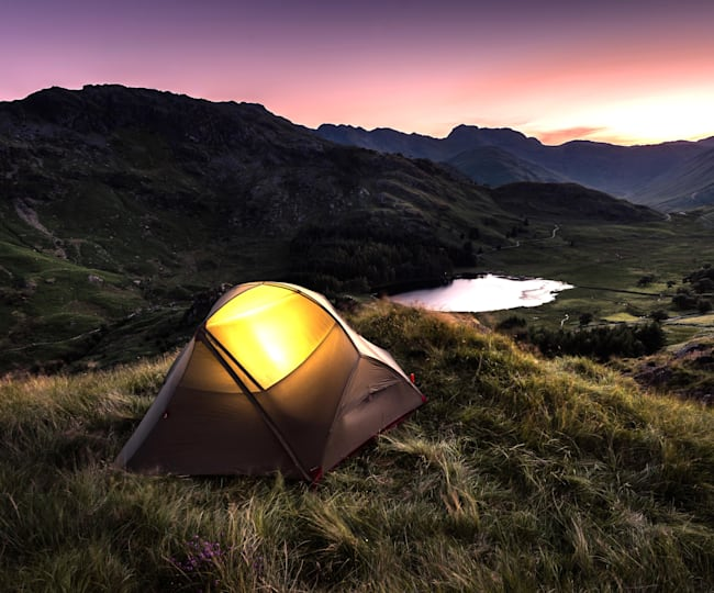 The Lake District's stunning natural scenery is perfect for camping