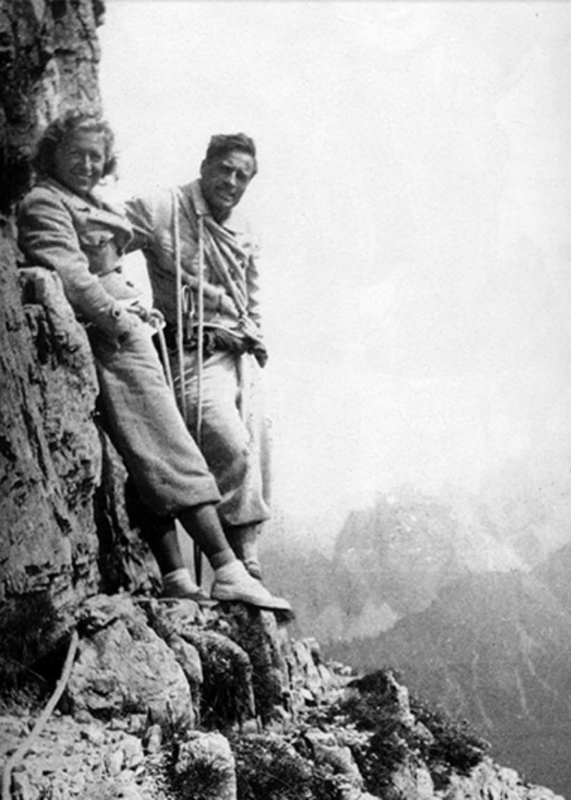 Το ζεύγος Comici Esher  στον Όλυμπο το 1934
