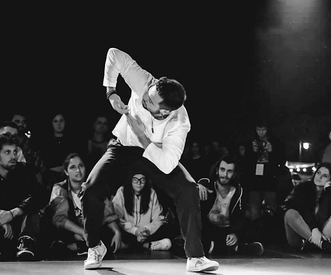 Raul Bârsan la show-ul Nuff Battle București