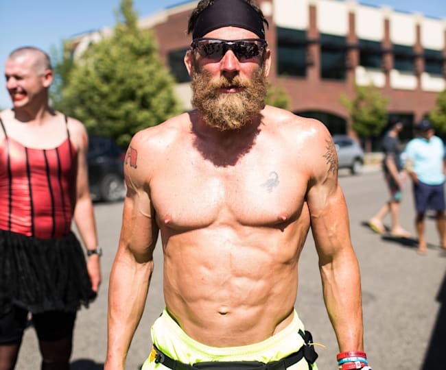 That's a look of determination, and an epic beard