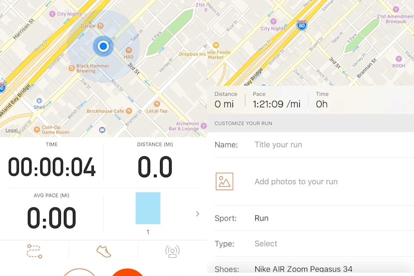 One Tap Record for Strava