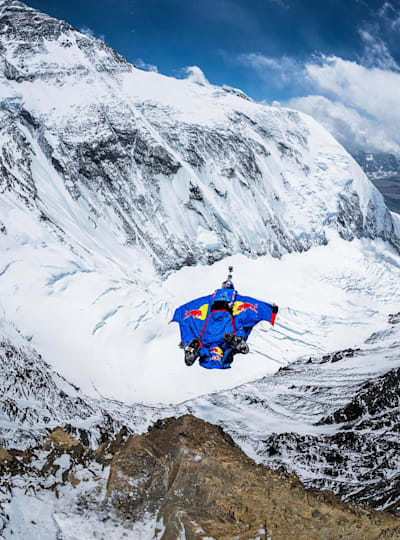 Rozov launches from Everest