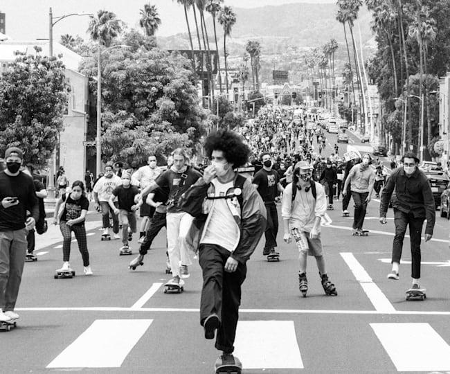 Skaters on Sunset Boulevard