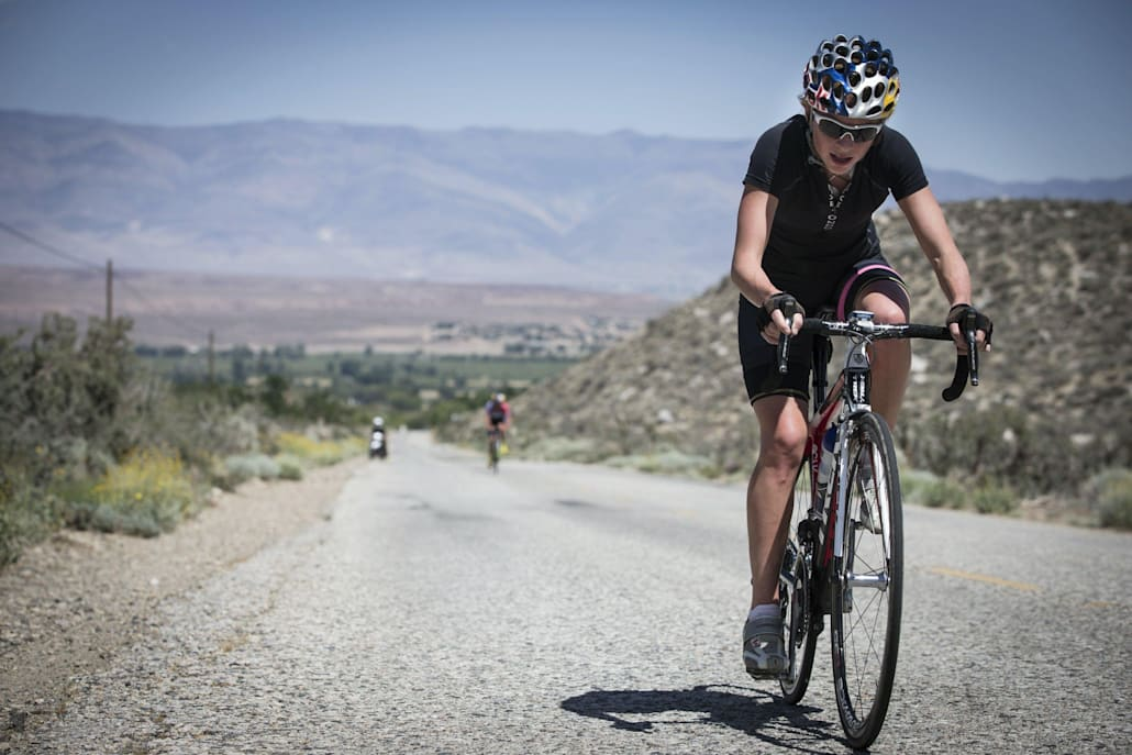 Kirsten Sweetland performs at Red Bull Project Endurance in the Sierra Nevada Mountains in Bishop, CA on May 18, 2013