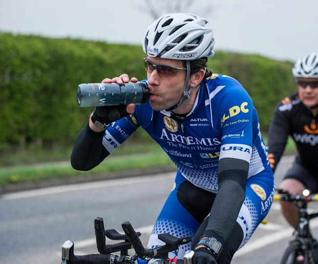 Marc Beamount, fueling up.