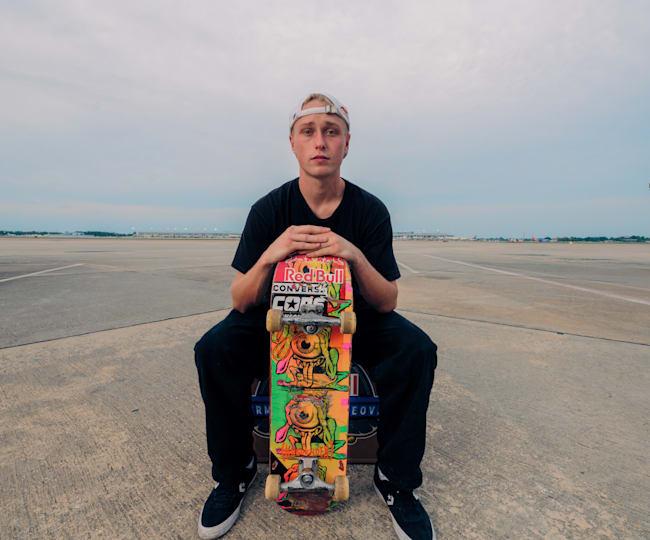 Jake Wooten on the tarmac