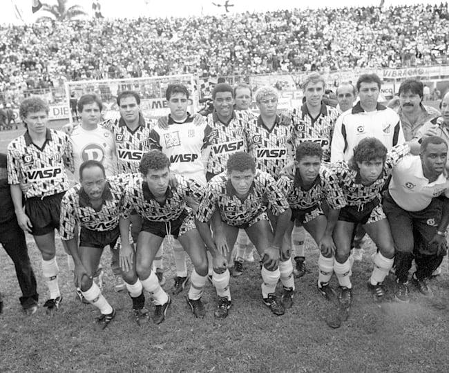Time do Bragantino perfilado para a final do Brasileiro de 1991