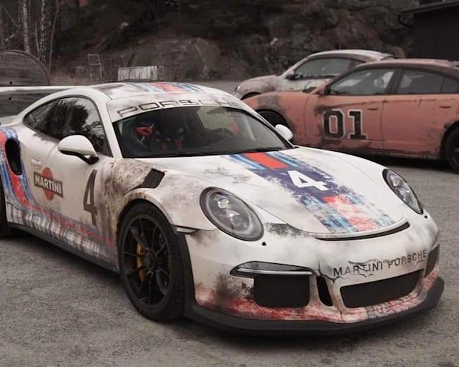 The worn-out Porsche 911 GT3 RS