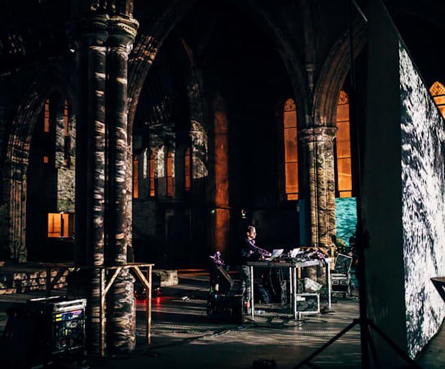 Max Cooper performing at Carlisle Church, Belfast