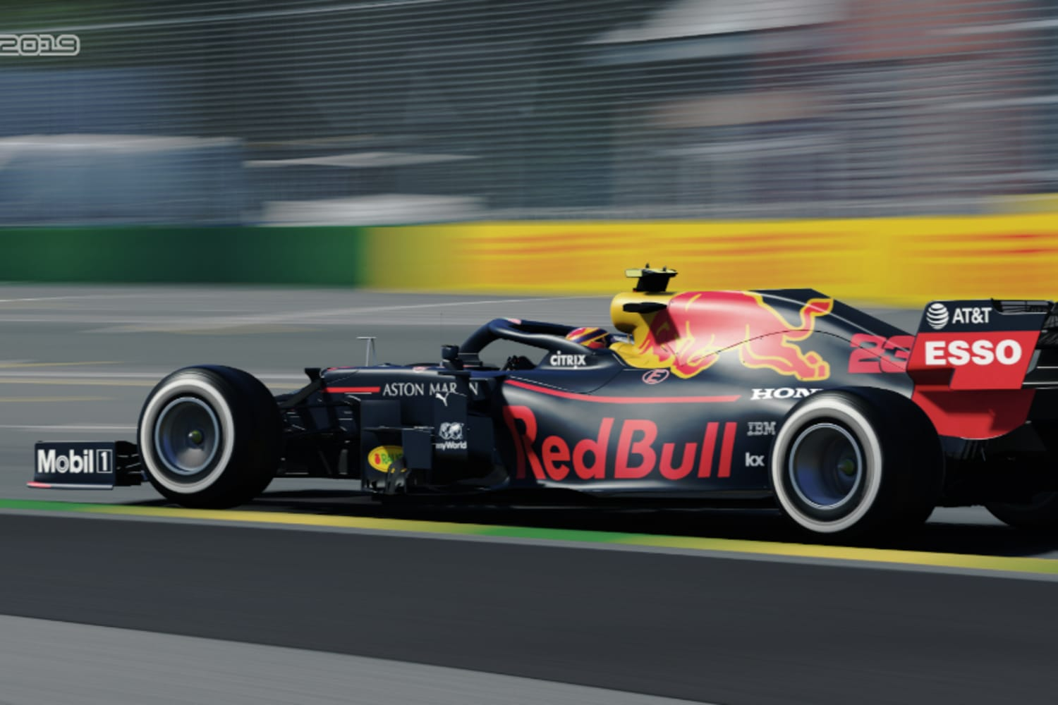 Find out who won the virtual Australian F1 GP.
