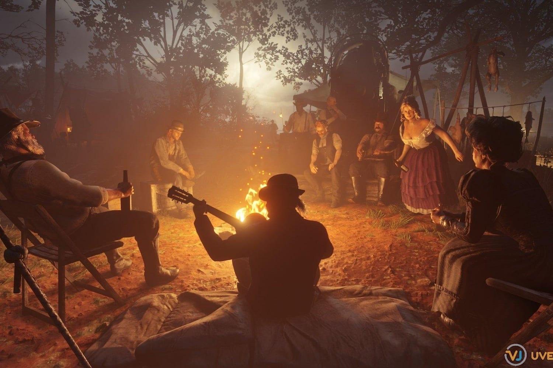 Red Dead Redemption 2 camp party: Van der Linde camp