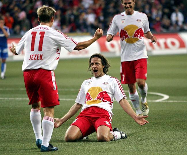 René Aufhauser (centre) scored some key goals in the title-winning season