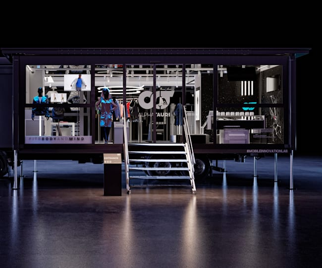 AlphaTauri's Mobile Innovation Lab showcases the future of fashion