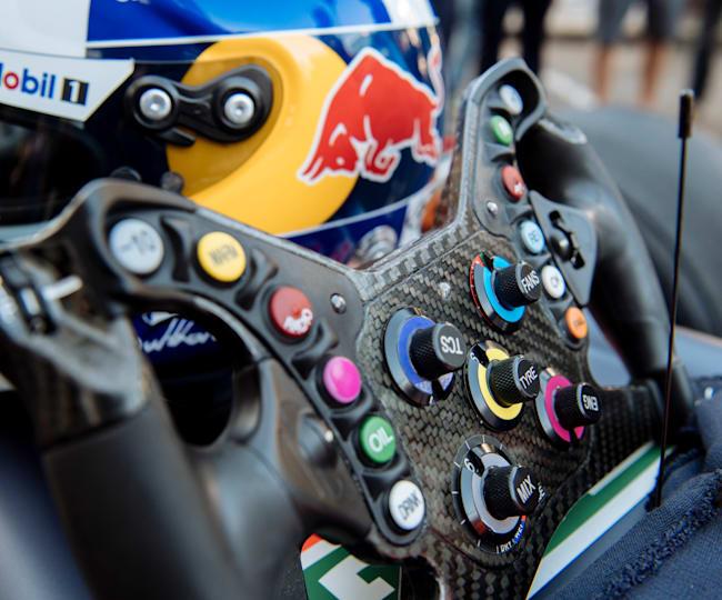 Le volant de David Coulthard pour une course d'exhibition en 2019