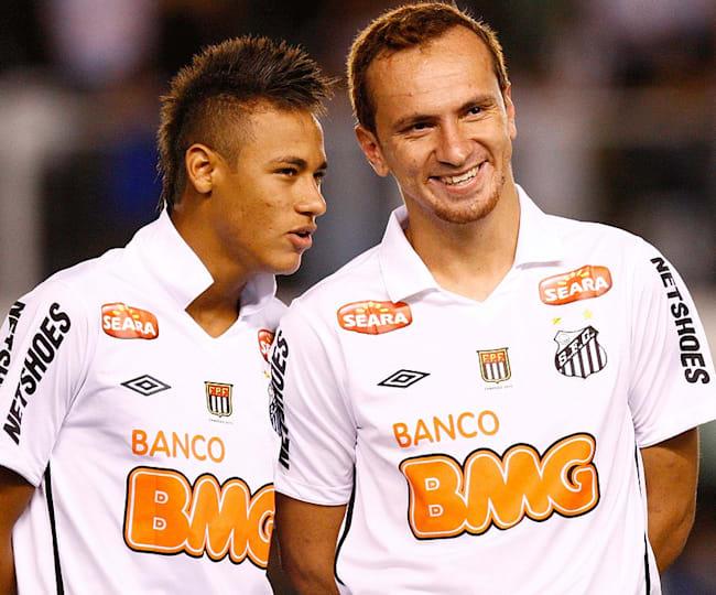 Neymar Jr. e Zé Love pelo Santos em 2011