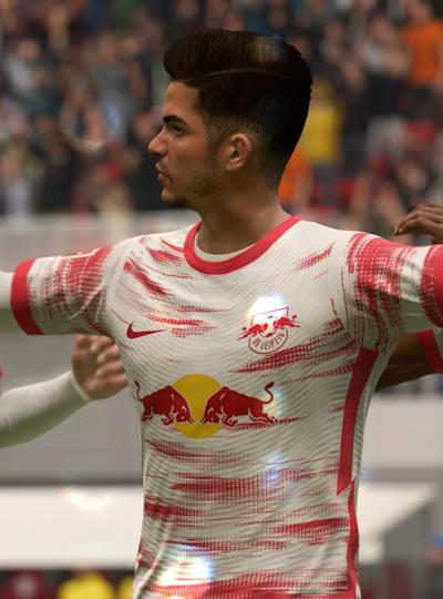Bundesliga'nın yıldız oyuncularından RB Leipzig forması giyen André Silva.