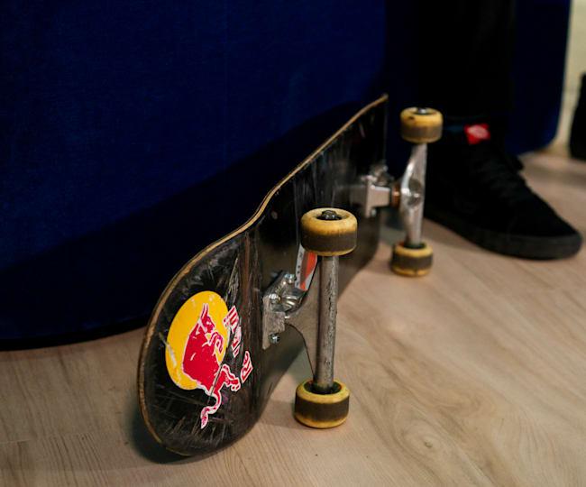 Detail of a skateboard, skateboard wheels