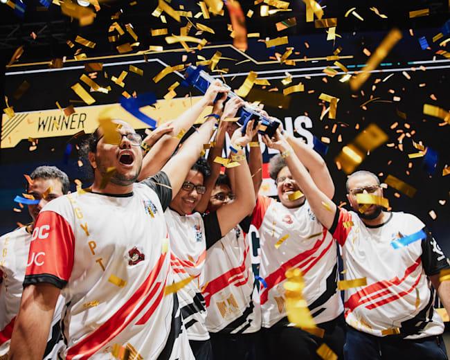 Red Bull Campus Clutch Dünya Finali şampiyonu Anubis Gaming.
