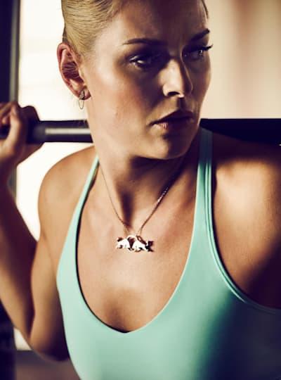 Lindsey Vonn training in the gym