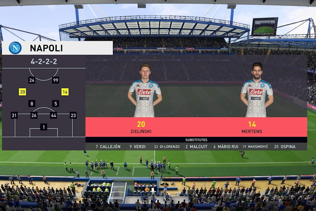 The 4-2-2-2 is one of the most popular formations in FIFA 20