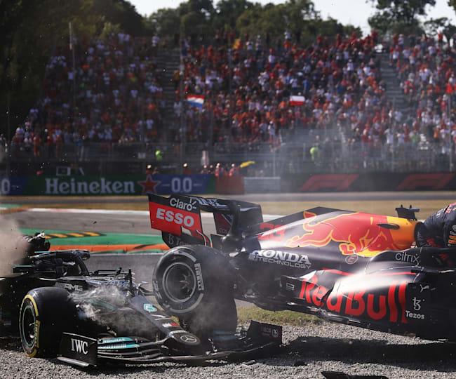 """Das Ende der """"Mission Monza"""": Max Verstappen und Lewis Hamilton"""