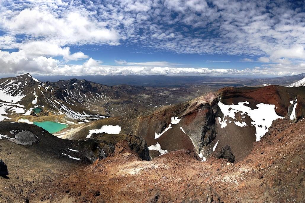 Vue fabuleuse sur le Tongariro Alpine Crossing
