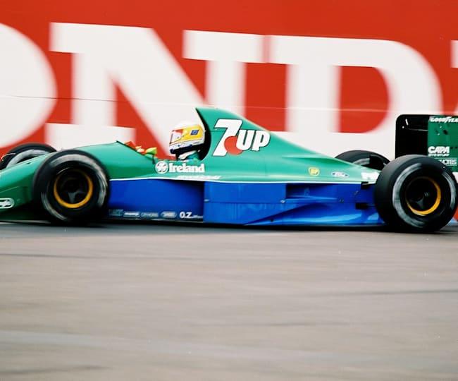 Bertrand Gachot au volant de sa F1 au Grand Prix des États-Unis en 1991