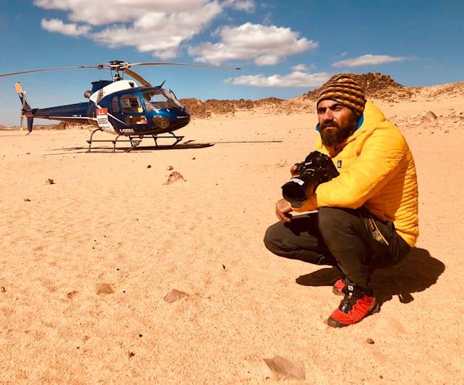 Photographer Naim Chidiac at the Dakar Rally
